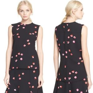 Kate Spade Falling Florals Sleeveless Blouse